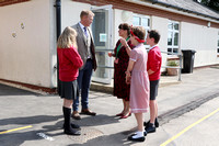 TV farmer Adam Henson officially opens Leighterton Primary School's new classroom and entrance. Wednesday 23rd of May 2018.